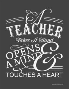 Guru itu: Memegang Tangan (untuk menasehati), Membuka Pikiran, & Menyentuh Hati